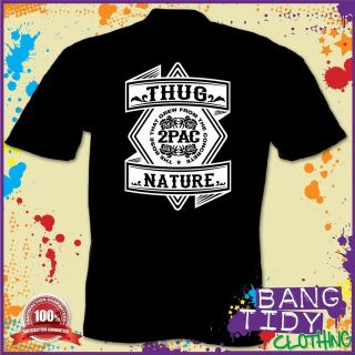 Pac Thug Life Tupac Shakur Hip Hop Rap Music Mens T Shirt Gift