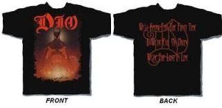 DIO THE LAST IN LINE T SHIRT RONNIE JAMES DIO MEDIUM OR LARGE