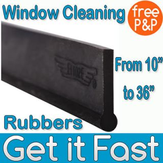 Professional Window Cleaning Rubber for Squeegees & Blades   10 inch