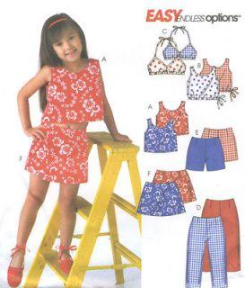 Bikini Top Capri Pants Shorts Skorts Sewing Pattern Drawstring 4495