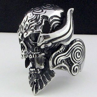 cool horrible skull stainless steel ring size 10 75 new
