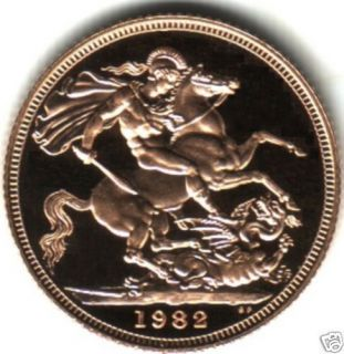 1982 qe2 proof gold half sovereign boxed location united kingdom