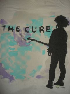 1980s THE CURE CONCERT T SHIRT 1986 Boys Dont Cry ROBERT SMITH Large
