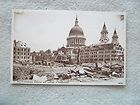 ST. PAULS CATHEDRAL SHOWING WAR DAMAGE IN FOREGROUND LO​.