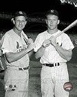 St. Louis Cardinals Stan Musial & New York Yankees Mickey Mantle 8x10