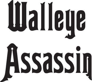 walleye assassin vinyl fishing decal time left