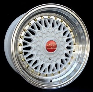 Newly listed WHITE 15x8 15 RS Style Wheels 5x100 ESM 002R EAGLE