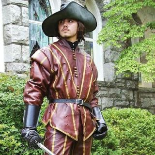Newly listed Renaissance   Swordsmans Leather Doublet Perfect For Re