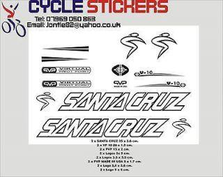 santa cruz v10 bike stickers decals graphics stickers time left