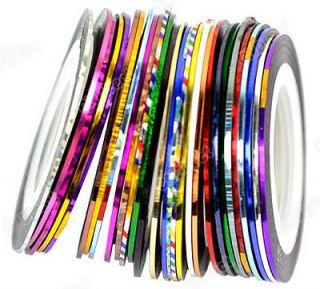 hot30Pcs Mixed Colors Rolls Striping Tape Line Nail Art Tips