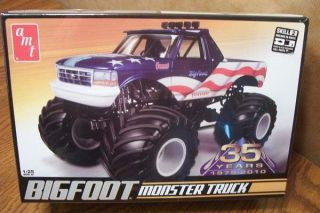 amt bigfoot monster truck model kit 1 25 scale time
