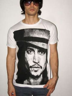 johnny depp dead man film movie art pop rock t shirt m
