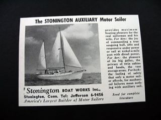 stonington auxiliary motor sailer boat sailboat ad time left $