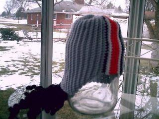 crochet pattern osu football helmet with dreadlocks
