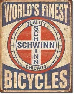 Schwinn bike BMX Logo metal garage man cave sign gas station 1728