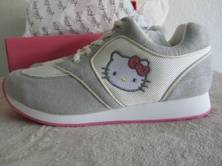 HELLO KITTY Serra Style Grey Sneaker Shoes SIZE 7 NEW IN BOX RARE