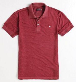modern amusement burnout mens dark red polo shirt nwt new