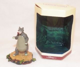 Walt Disney Tiny Kingdom Jungle Book Baloo Bear Figurine/Figure in Box