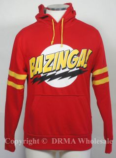 Authentic BIG BANG THEORY Sheldon Bazinga Logo Pullup HOODIE S M L XL