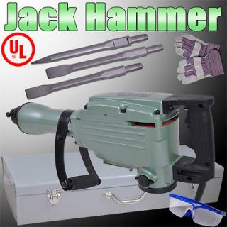 Upgraded Double Insulated Motor Demolition Jack Hammer Nylon Grip