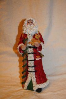 Santa Claus St Nick 9 inch Resin Christmas Holiday Figurine