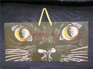 pet related smiley signs cats eyes garden wp17 31 time