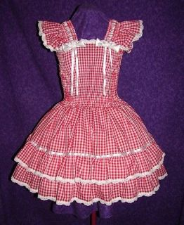 sundress gingham scalloped lace adult baby sissy aunt d more
