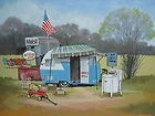 vintage shasta first monday travel trailer camper art buy it