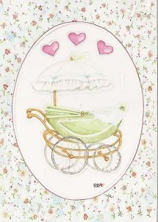Newly listed Susan Branch Die Cut Baby Blue Frame Carriage Heart