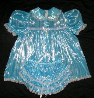 adult sissy baby super shin mirror baby dress aqua s
