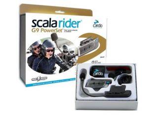 Cardo Scala Rider G9 Powerset Motorcycle Intercom   Complete Set   UK