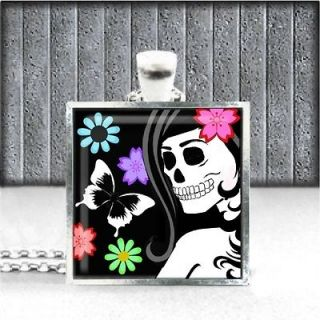 Muertos Day of The Dead Skeleton Skull Mexican Art Costume Necklace