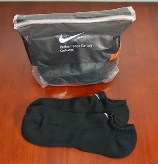 Nike Mens Socks 6 Pairs/Pk NO SHOW Ankle Low Cut Black, White US Shoe