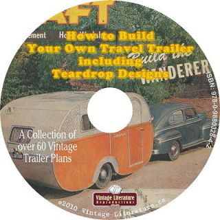 Sixty {60+} Plans to Build a Tear Drop Trailer on CD ღ