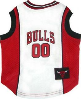 5238LG Chicago Bulls Licensed Mesh Dog Tank Jersey Clothes L Large
