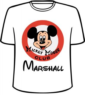 personalized disney mickey mouse club t shirt