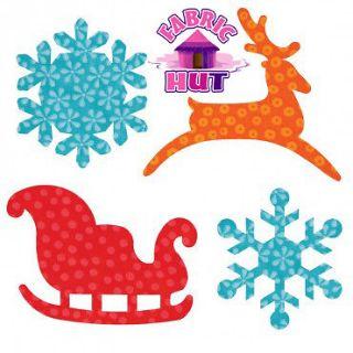 Accuquilt GO Sleigh Snowflakes Holiday Winter Die Reindeer Snow Santa