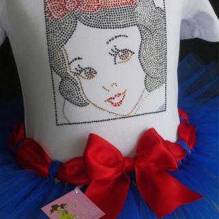 5T Snow White costume BOUTIQUE TUTU & SpArKLe rhinestone t shirt