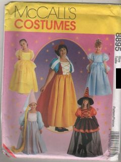 Sewing Pattern McCalls Costume Girls Snow White Rapunzel Witch 7 8 10