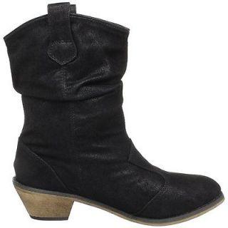 Brand New Fashion Black Riding Cowboy Western Girls Women Boots Sz 7.5