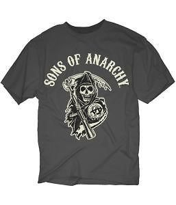 sons of anarchy logo patch grey t shirt new s m l xl 2xl