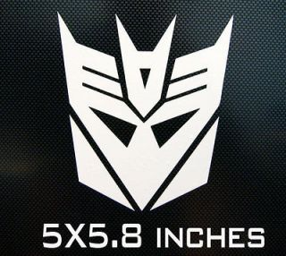 newly listed decepticon transformer logo car window decal sticker time