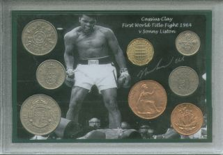 Cassius Clay Muhammad Ali First Title Fight Vintage Boxing Coin Gift