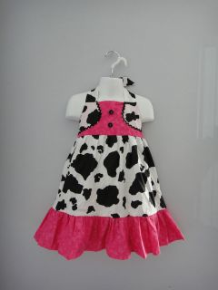 new fushia cow print girls pageant western wear ooc 3 4t