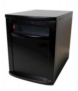 1500 Watt Infrared Quartz Heater 1000 Sq FT. Space Heater   Black