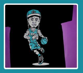 Cajmear Lil Wayne YMCMB New Orleans Hornets shirt saints trukfit