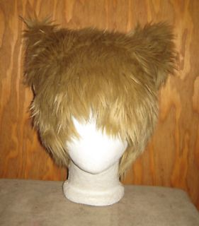 KITTY CAT EARS FUR HAT SPIRIT WOLF BEAR HALLOWEEN COSTUME COSPLAY