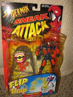 Spider Man ToyBiz Sneak Attack Flip n Trap SPIDER MAN with Web Trap