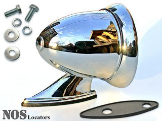 classic chrome bullet style sport mirror new mg cobra healey