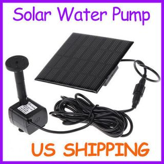 fountain water pump solar power panel kit for garden pond